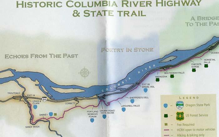 Columbia River Waterfalls Near Portland