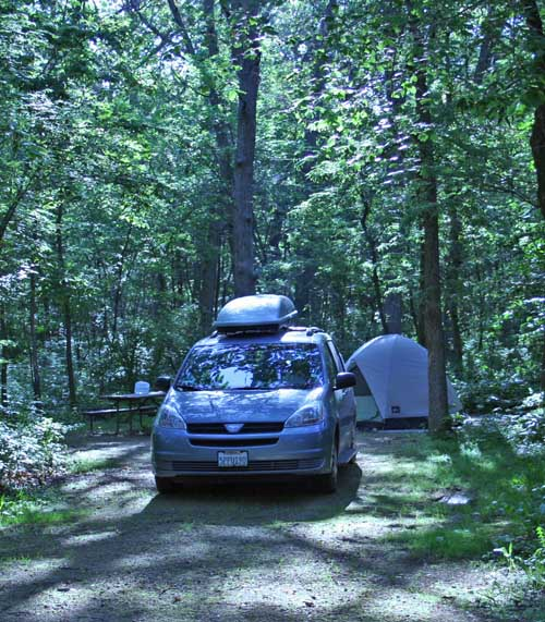 Camping at Lake Kegonsa State Park, Wisconsin